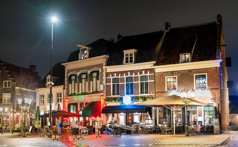 Traditionella holländska hus i Amersfoort, Nederländerna royaltyfria foton