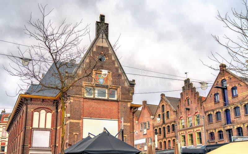 Traditionella hus i Arnhem, Nederländerna royaltyfri fotografi