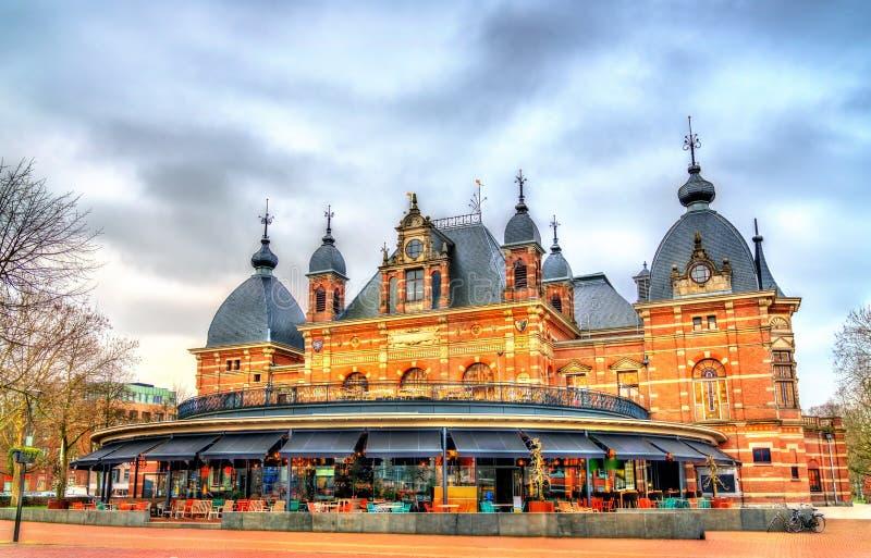 Traditionella hus i Arnhem, Nederländerna royaltyfri foto