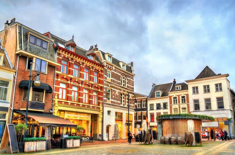 Traditionella hus i Arnhem, Nederländerna royaltyfria foton