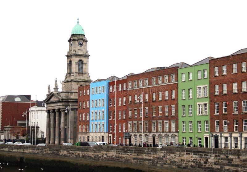 Traditionella hus i Dublin, Irland arkivfoto