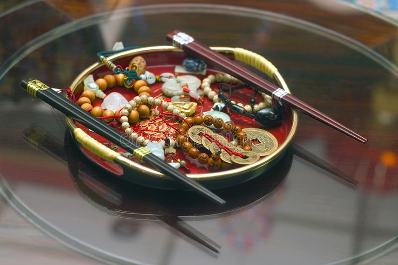 Traditionella kinesiska objekt royaltyfria bilder