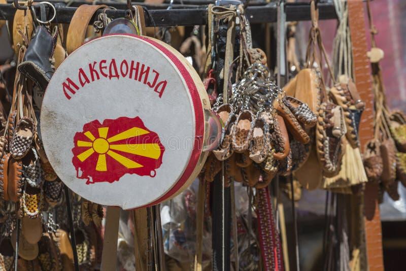 Traditionella läderskor, Skopje, Makedonien fotografering för bildbyråer