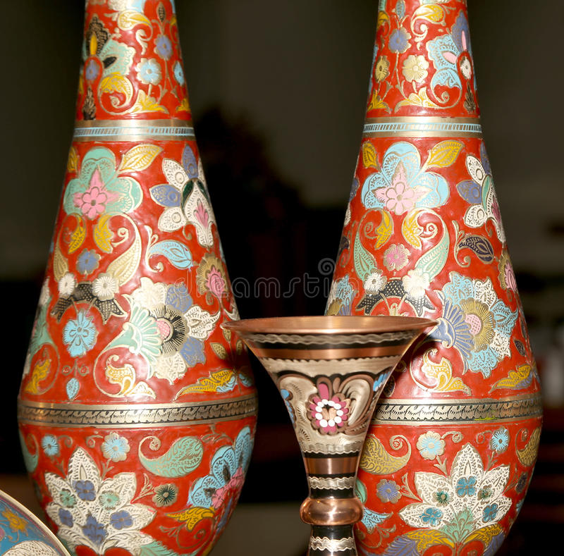 Traditionella lokala souvenir i Jordanien, Mellanösten arkivfoton