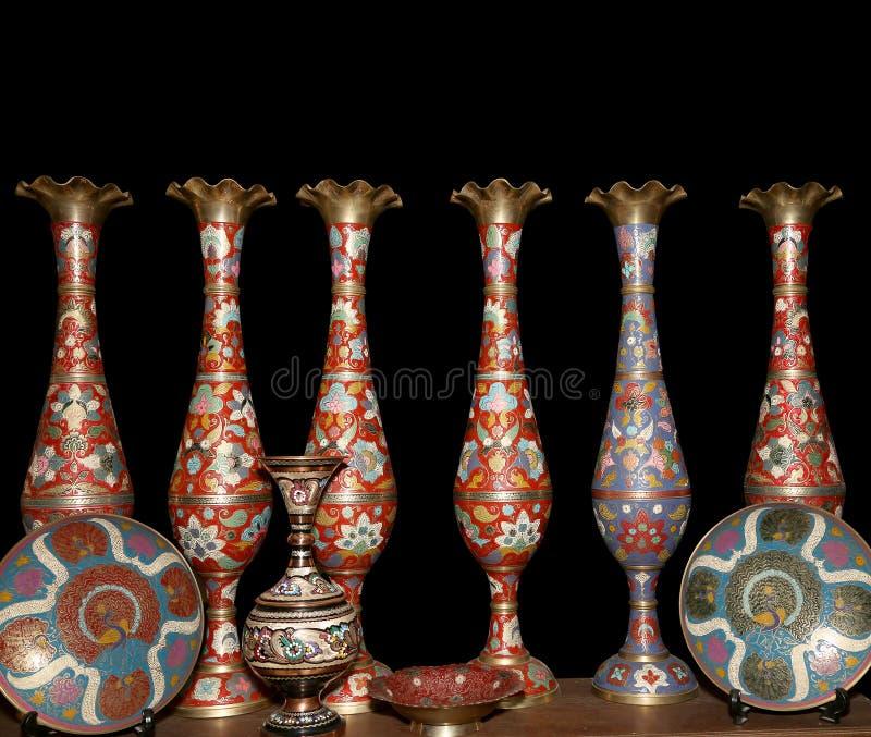 Traditionella lokala souvenir i Jordanien, Mellanösten arkivfoto