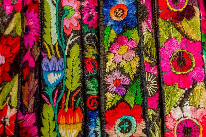 Traditionella mayan textiler royaltyfri fotografi