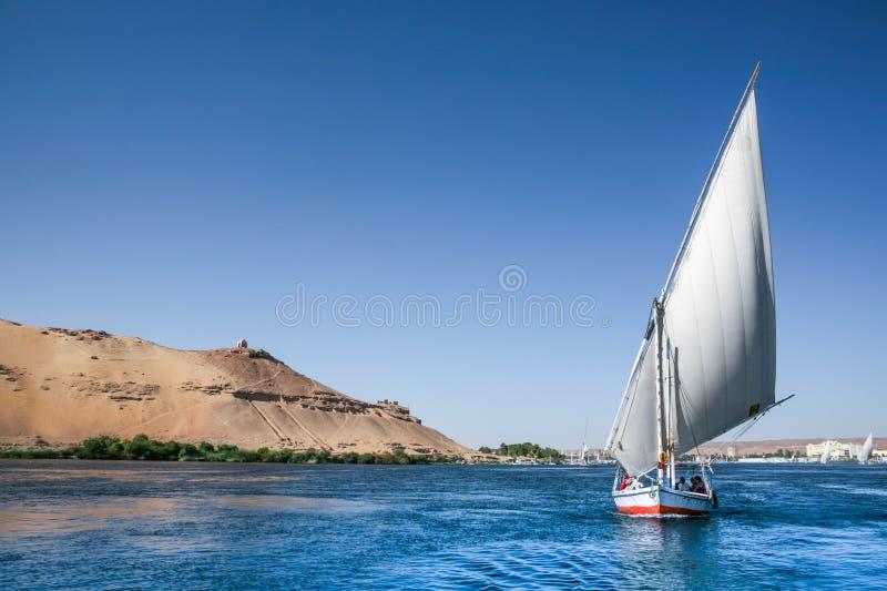 Traditionella Nile Felucca arkivbild