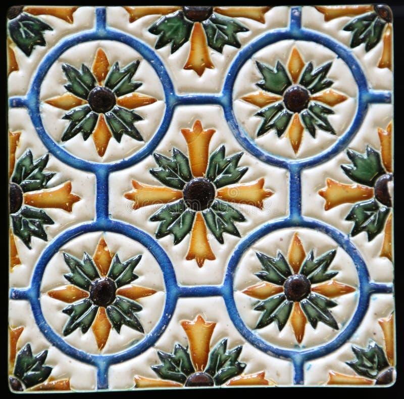 Traditionella tegelplattor från Porto, Portugal arkivbild