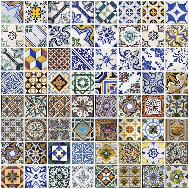 Traditionella tegelplattor från Porto, Portugal royaltyfria foton