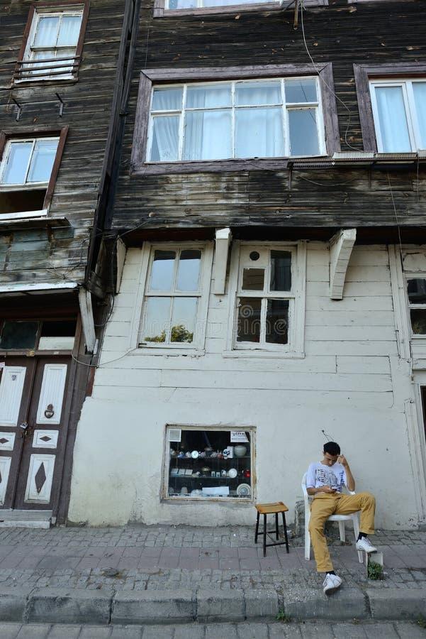 Traditionella trähus, Istanbul royaltyfri fotografi