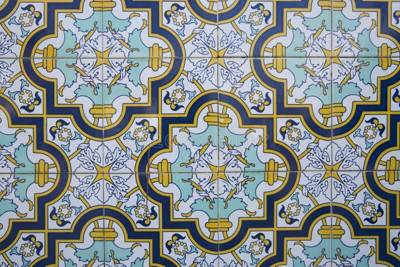 Traditionella utsmyckade portugisiska dekorativa tegelplattor vektor illustrationer