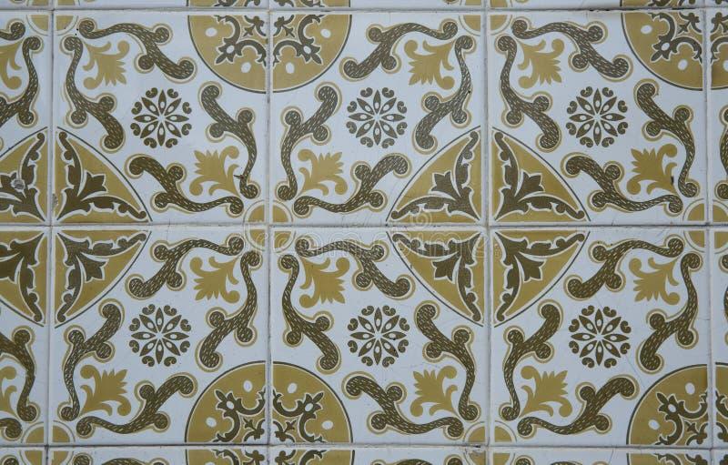 Traditionella utsmyckade portugisiska dekorativa tegelplattor stock illustrationer