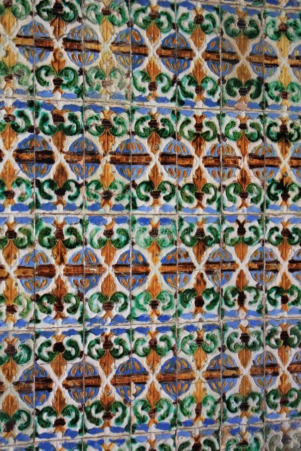 Traditionella utsmyckade tegelplattor arkivbilder