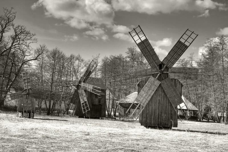 traditionella windmills fotografering för bildbyråer