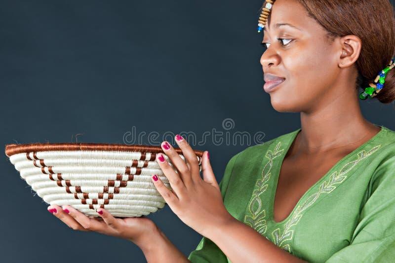 Traditionelle afrikanische Frau stockfotos