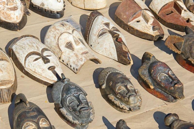 Traditionelle afrikanische Masken lizenzfreie stockfotos