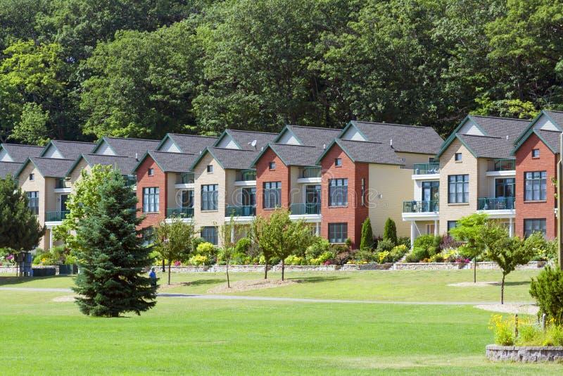Traditionelle amerikanische Häuser lizenzfreies stockbild