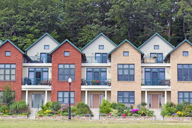 Traditionelle amerikanische Häuser lizenzfreie stockfotos