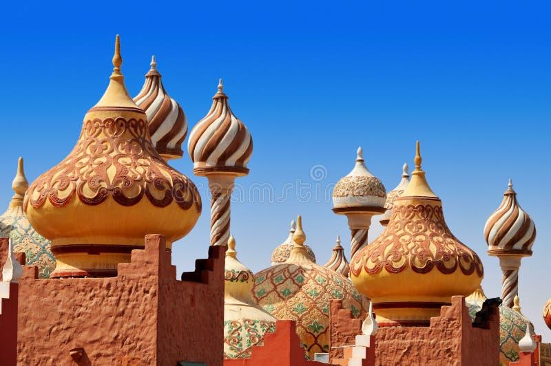 Traditionelle arabische Architektur in Ägypten lizenzfreie stockfotos