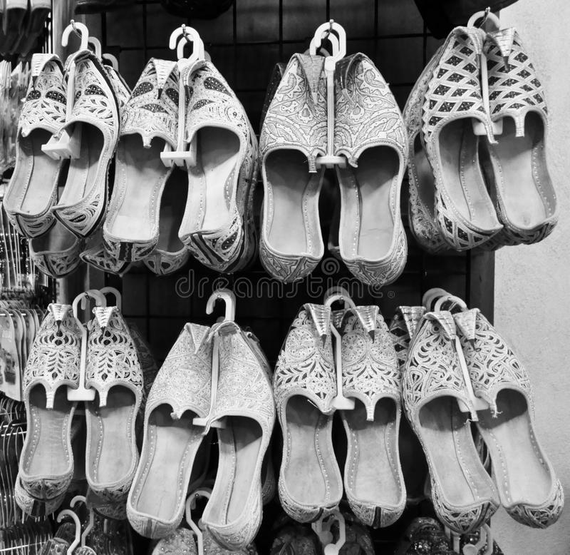 Traditionelle arabische Schuhe stockfoto