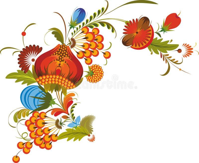 Traditionelle Bündel-Blumen getrennt vektor abbildung