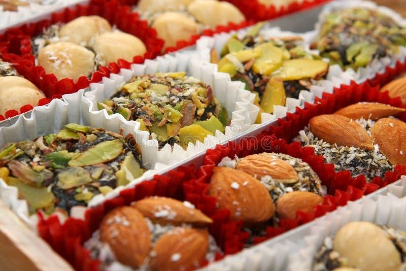 Traditionelle Bonbons der türkischen Freude stockbilder
