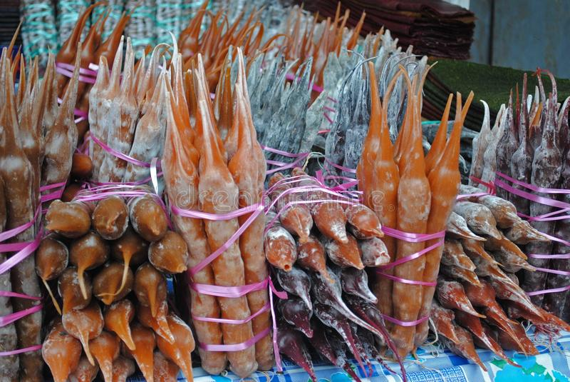 Traditionelle Bonbons Markt im im Freien, Georgia lizenzfreies stockfoto