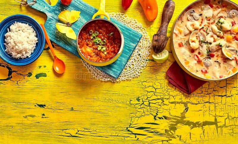Traditionelle brasilianische Muscheloberteilkasserolle lizenzfreies stockfoto