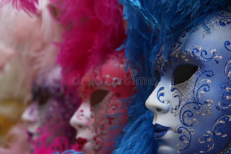 Traditionelle bunte Venedig-Schablone lizenzfreies stockfoto