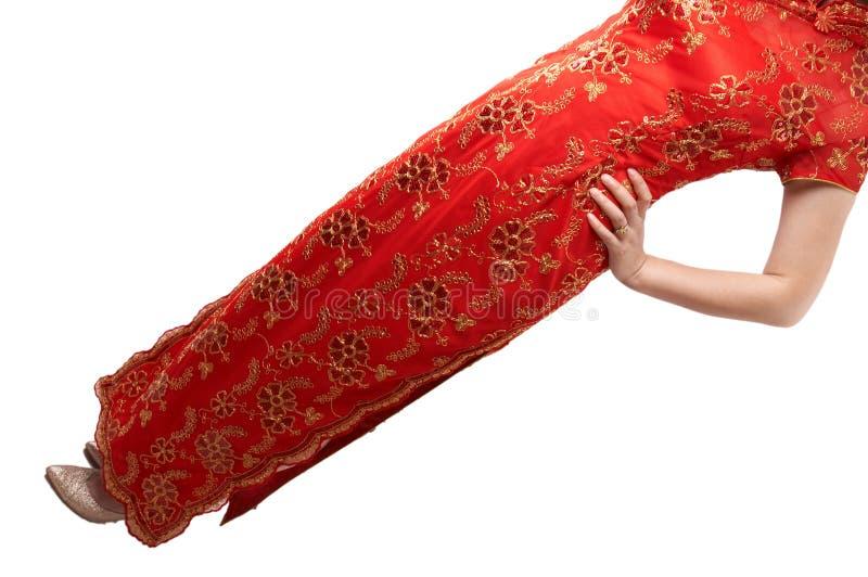 Traditionelle Chinesen kleiden-cheong Sam lizenzfreie stockfotos