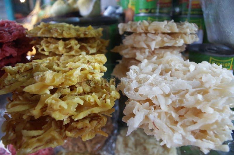 Traditionelle exotische coconout Süßigkeitsanzeige in einem Honduras-Markt lizenzfreie stockfotografie