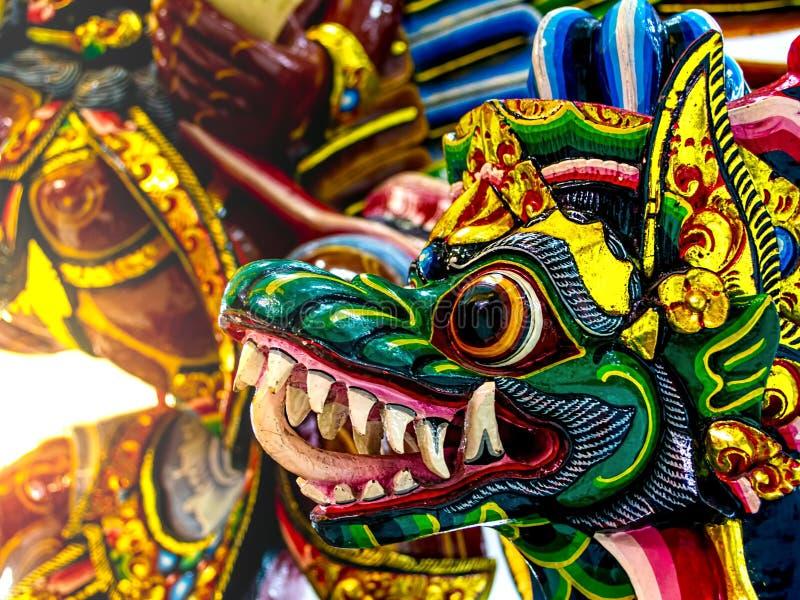 Traditionelle Garuda Wisnu Maske in Bali Indonesien, verwendet in Tanz-Performance oder religiöse Zeremonie Zeremonie lizenzfreies stockbild