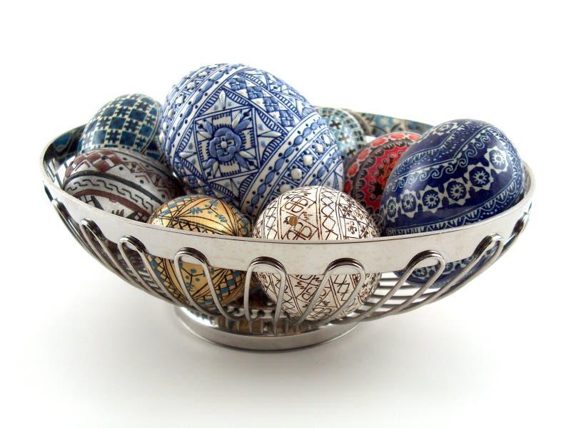 Traditionelle gemalte Eier stockfotografie
