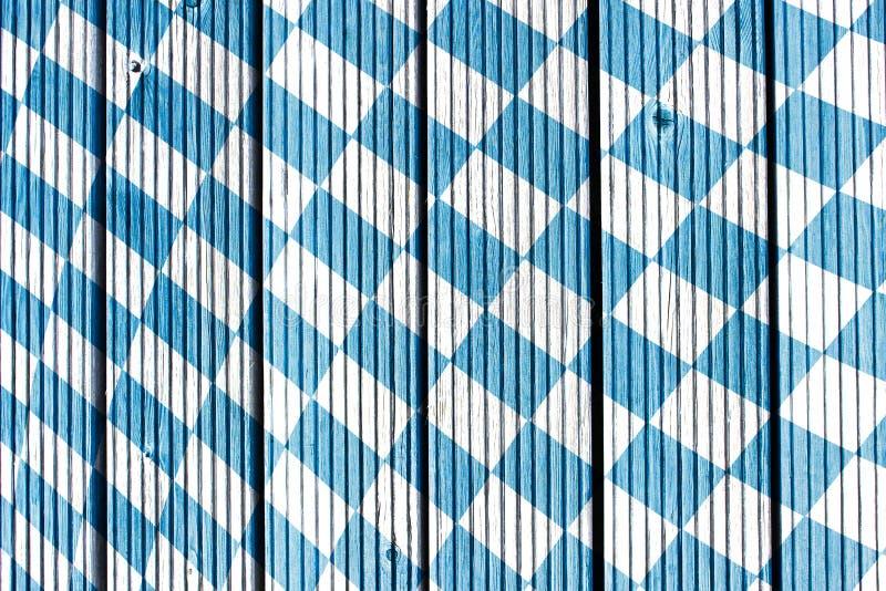 Traditionelle Gewebebeschaffenheit Oktoberfest Hintergrund Bayerisches Flaggen-Muster stockbilder