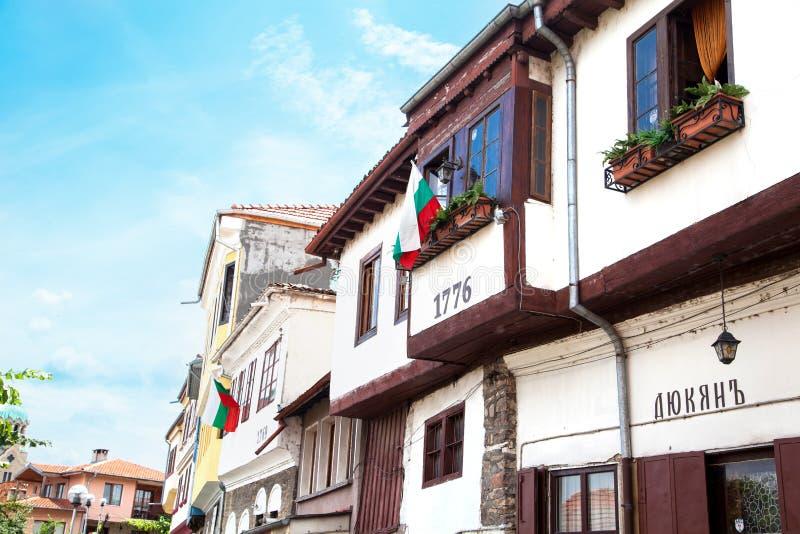 Traditionelle Häuser in Veliko Tarnovo Berühmte Stadt gelegen auf drei Hügeln stockbilder