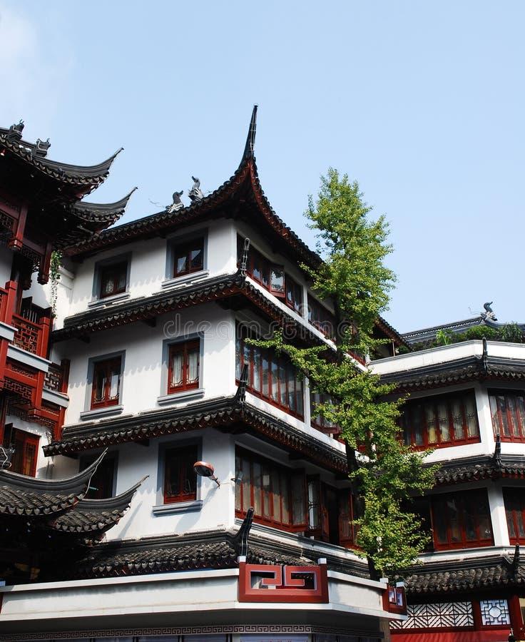 Traditionelle hölzerne Architektur von China lizenzfreies stockfoto