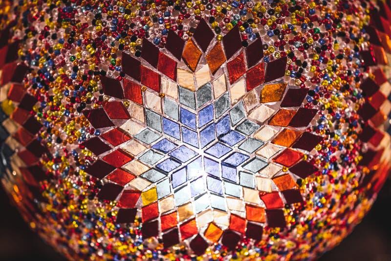 Traditionelle handgemachte türkische Mosaiklampenandenken lizenzfreies stockbild