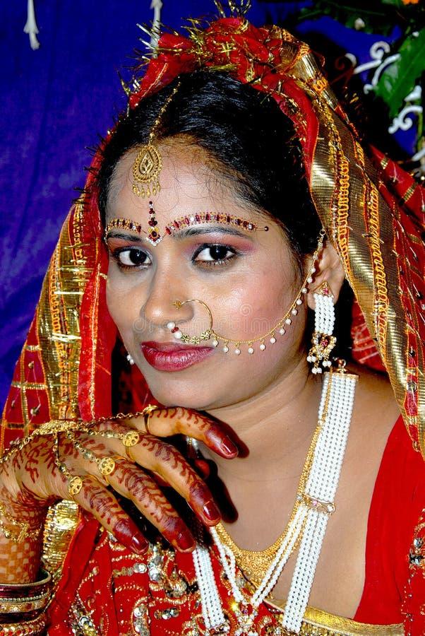 Traditionelle indische Braut stockfoto