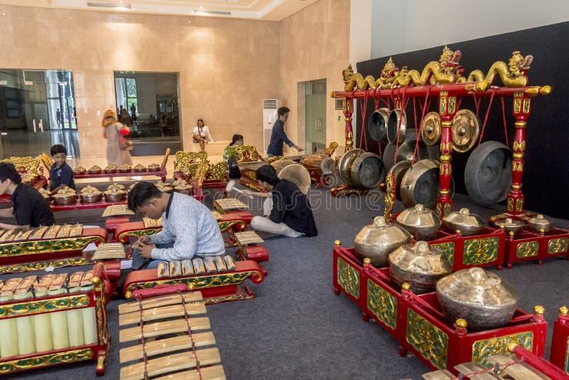 Traditionelle Instrumente von Indonesien stockbild