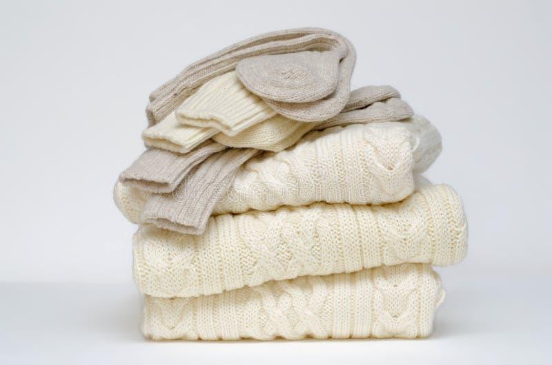 Traditionelle irische Aran woolen Knits lizenzfreie stockfotografie