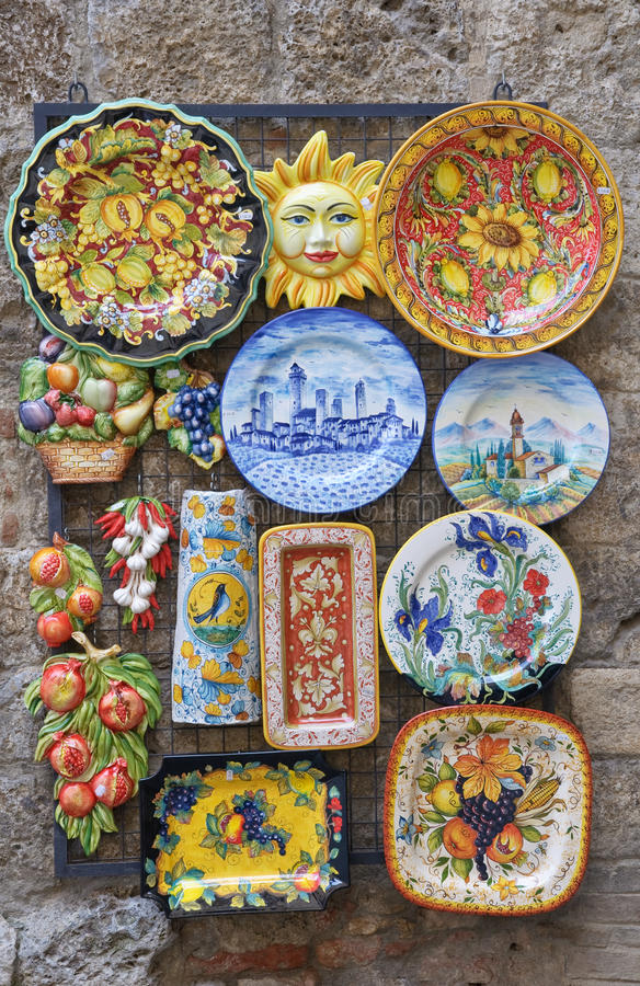 Traditionelle italienische Keramik stockbild