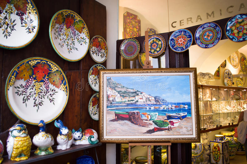 Traditionelle italienische Keramik stockfotos