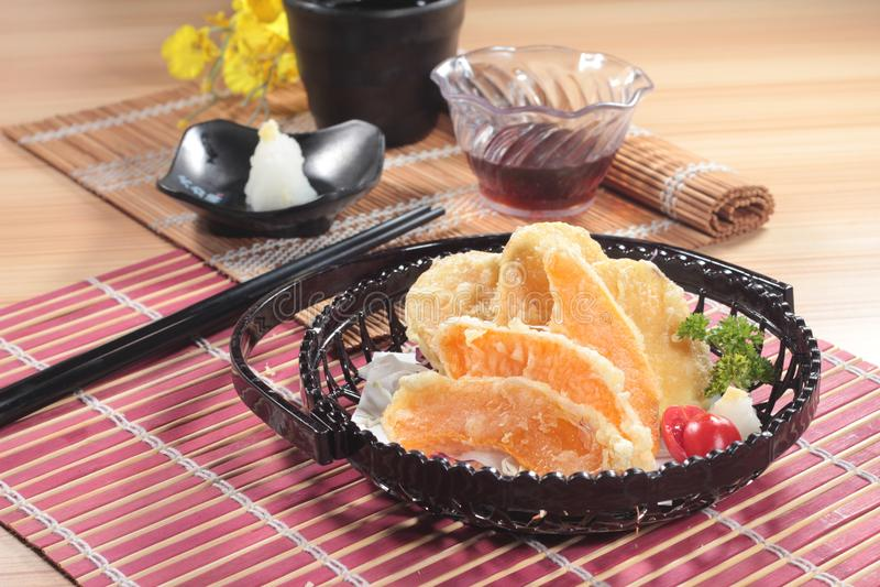 Traditionelle Japan-Küche von Tempura lizenzfreie stockfotos