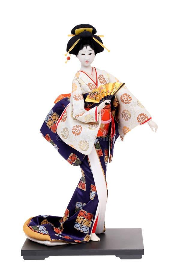 Traditionelle japanische Geisha-Puppe stockbild