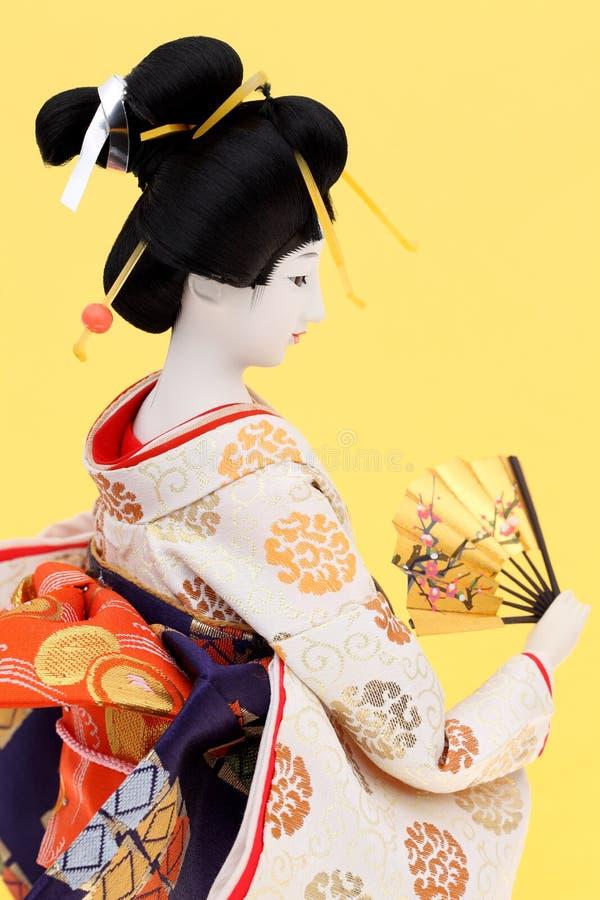 Traditionelle japanische Geisha-Puppe lizenzfreie stockbilder