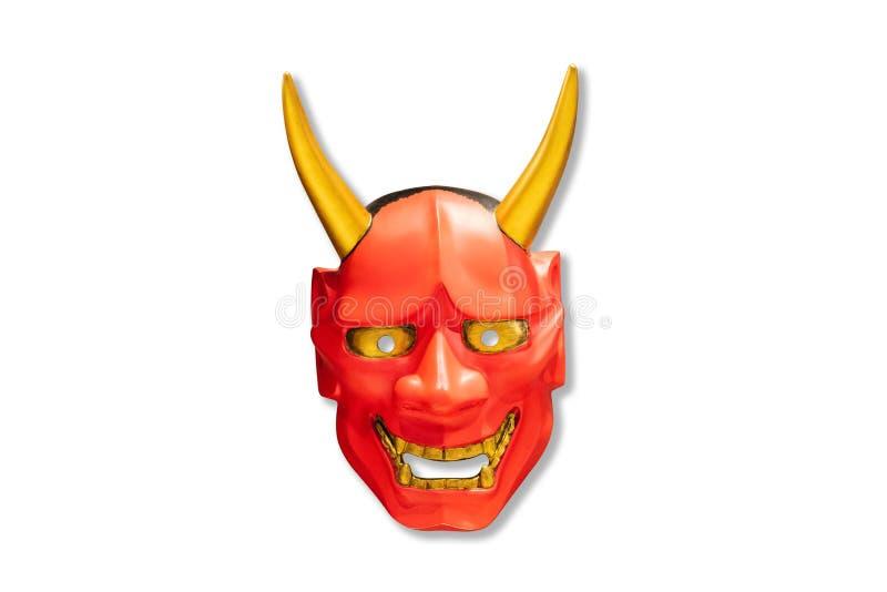 Traditionelle japanische Kabuki-Maske Maske des roten Teufels lizenzfreie stockfotografie