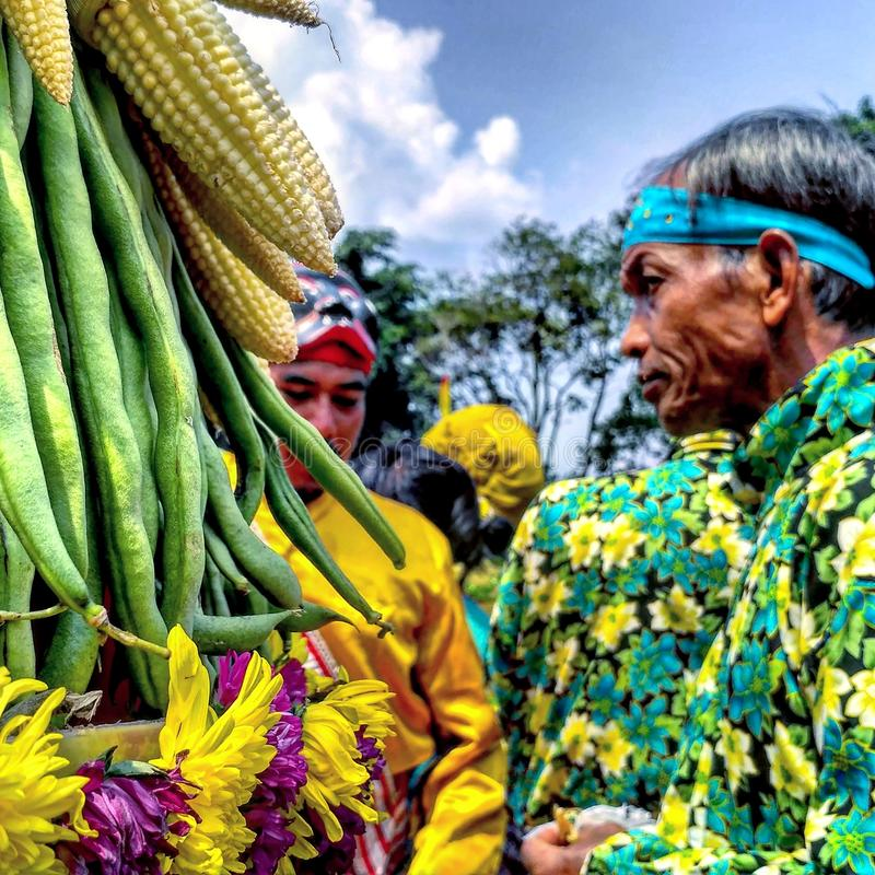 Traditionelle Javaneseritualkultur lizenzfreies stockbild
