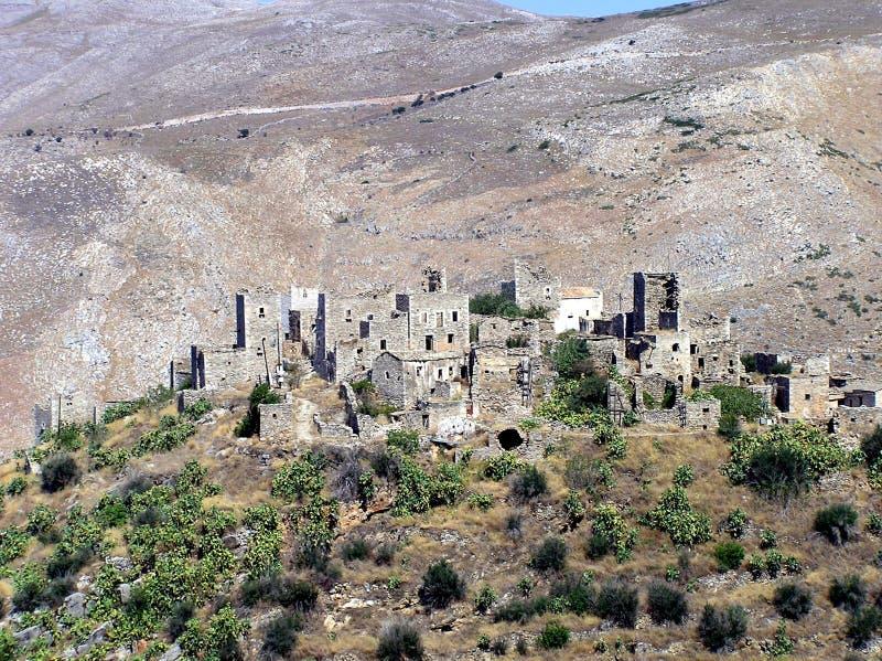 Traditionelle Kontrolltürme in Griechenland stockbild
