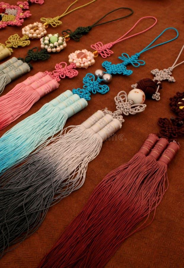 Traditionelle koreanische Dekorationen stockbild