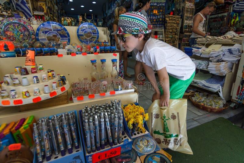 Traditionelle kretische Andenken und Geschenke stockfoto